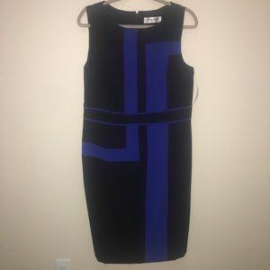 New! Women's Jones Studio -  14 Blue & Black Dress